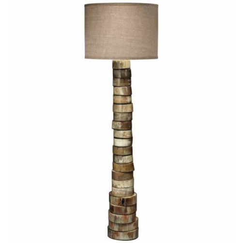 jamie young stacked horn floor lamp w/ large drum shade