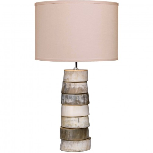 jamie young stacked horn table lamp w/ medium drum shade