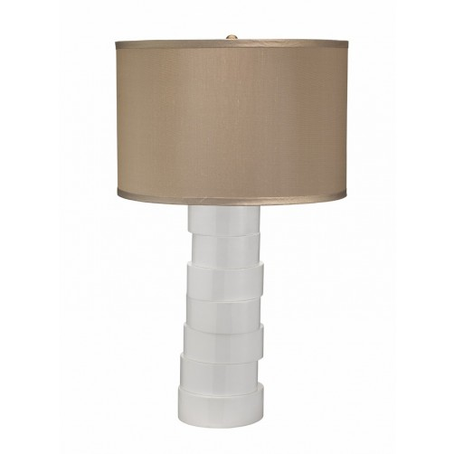 jamie young stacked table lamp w/ drum shade