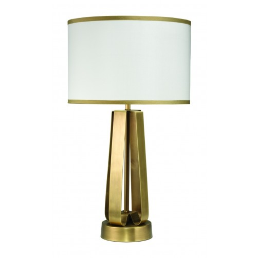 jamie young strap table lamp w/ drum shade