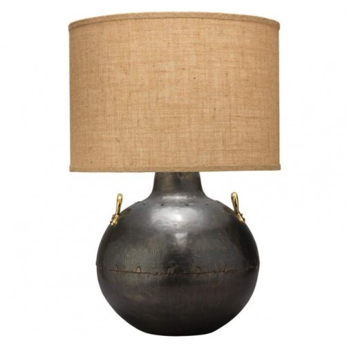 jamie young two handled kettle table lamp w/ classic drum shade