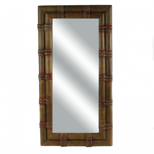 homart piper wood spool mirror, small
