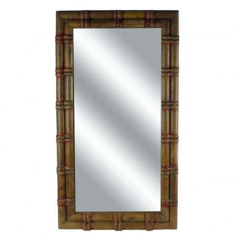 homart piper wood spool mirror, large