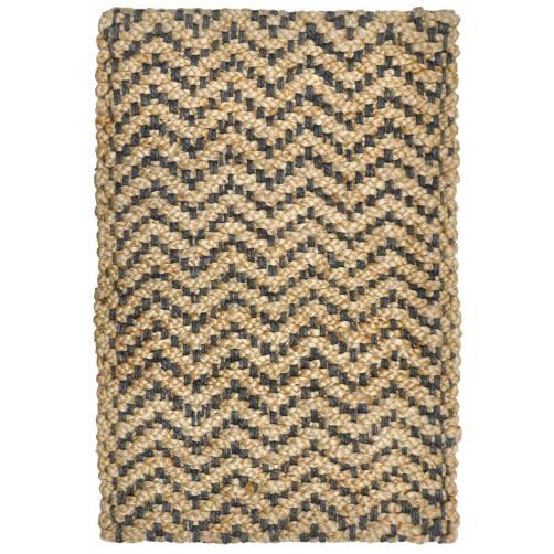 herringbone grey braided jute rug
