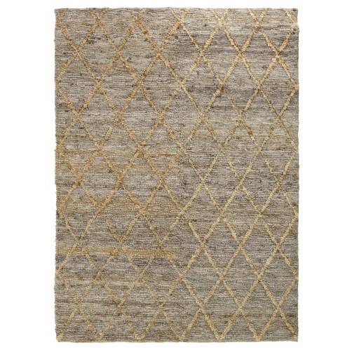 silky loop diamond rug, grey