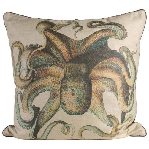 linen octopus pillow