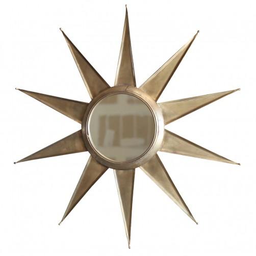 homart ray 10 point mirror, brass