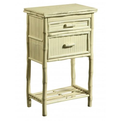 antique white side cabinet w/ drawers