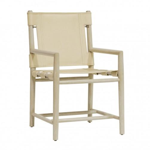 palecek whiskey dining arm chair