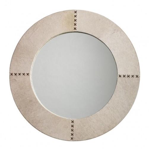 round cross stitch mirror
