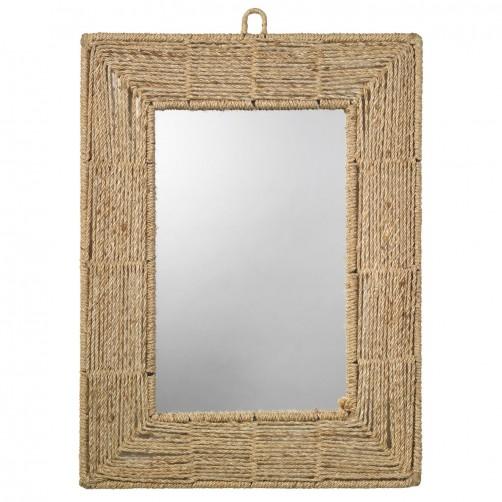 jute rectangle mirror