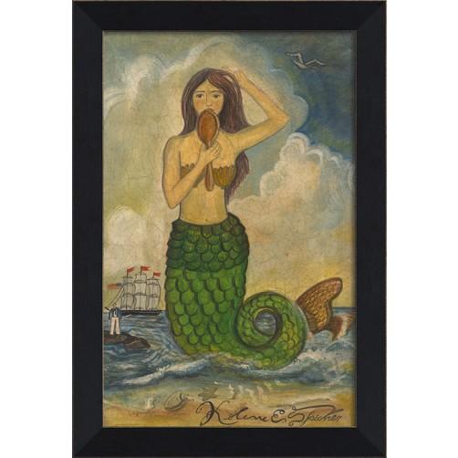 """""""mermaid with mirror"""" mermaid art"""