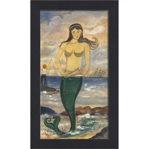 """""""sunrise on esther island"""" mermaid art"""