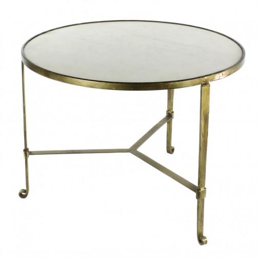 homart savoy iron and stone coffee table