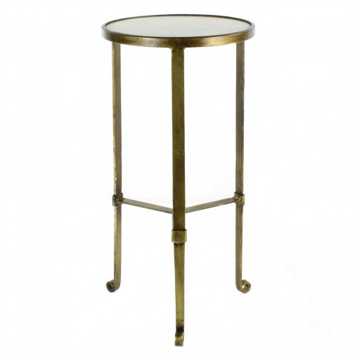 homart savoy iron and stone side table