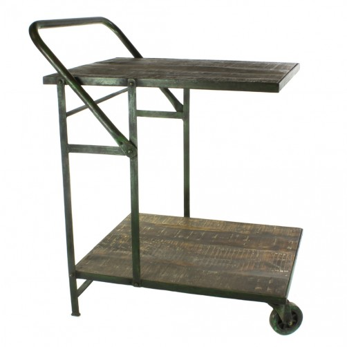 homart ojai iron garden trolley cart