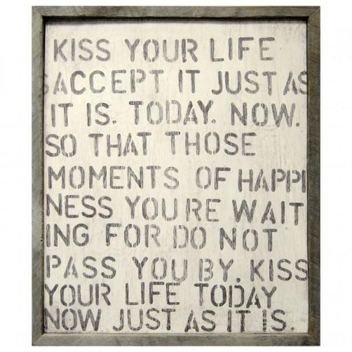 kiss your life art print