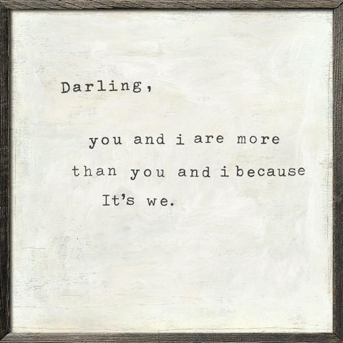darling you and i art print