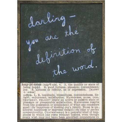 happiness definition art print