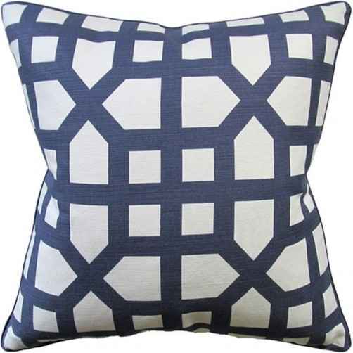 avignon trellis navy pillow