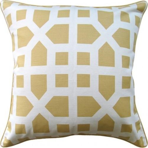 avignon trellis yellow pillow