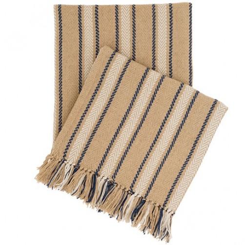 fresh american cambridge navy indoor/outdoor throw blanket