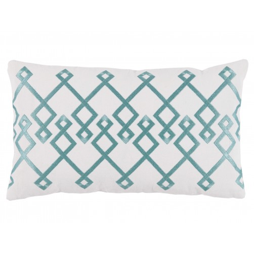 lacefield chevron mineral embroidery lumbar pillow