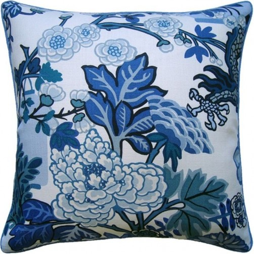 chiang dragon blue pillow