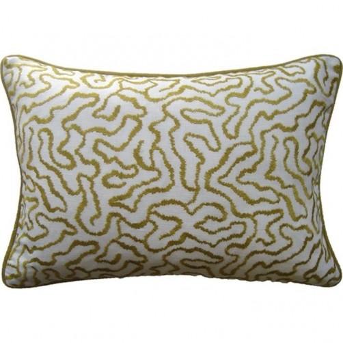 corallina acid green bolster pillow