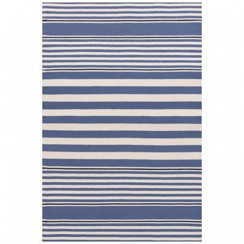 dash & albert beckham stripe denim indoor/outdoor rug
