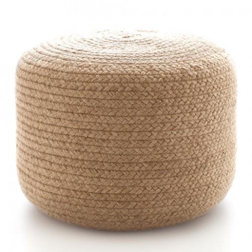 dash & albert braided natural pouf