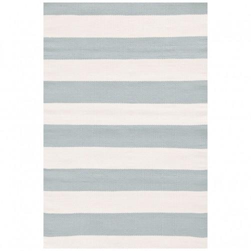 dash & albert catamaran stripe light blue ivory indoor/outdoor rug