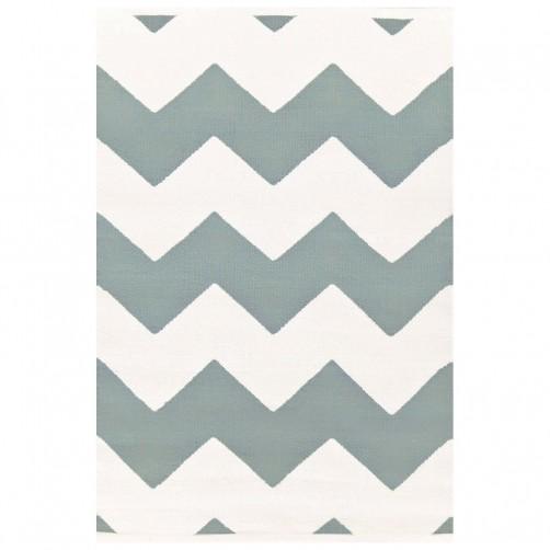 dash & albert chevron light blue indoor/outdoor rug