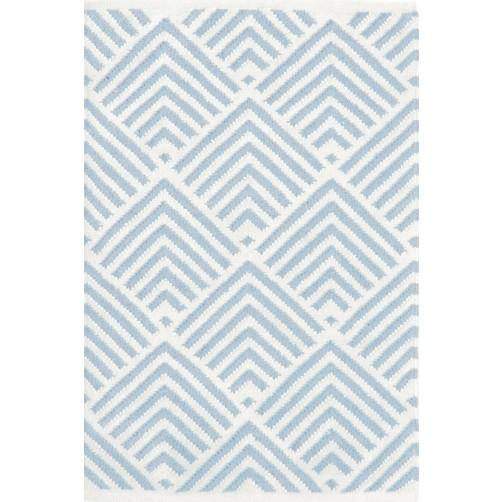 dash & albert cleo blue indoor / outdoor rug