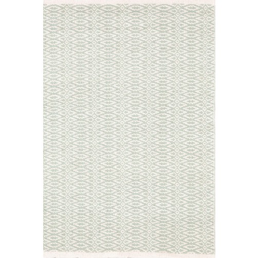 dash & albert ocean / ivory cotton woven rug