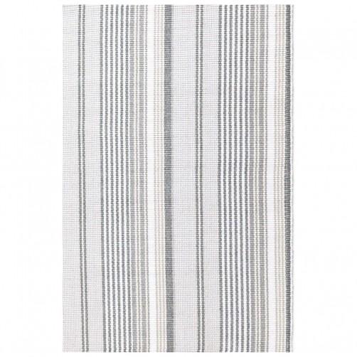 dash & albert gradation ticking woven cotton rug