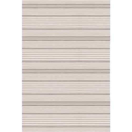 dash & albert rugby stripe platinum indoor/outdoor rug