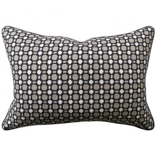 delilah charcoal bolster pillow