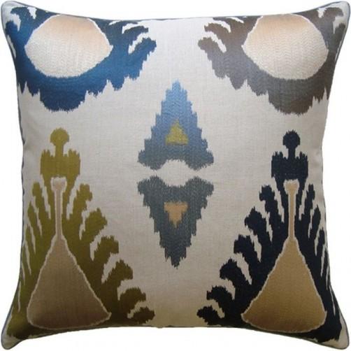 exuberance indigo pillow