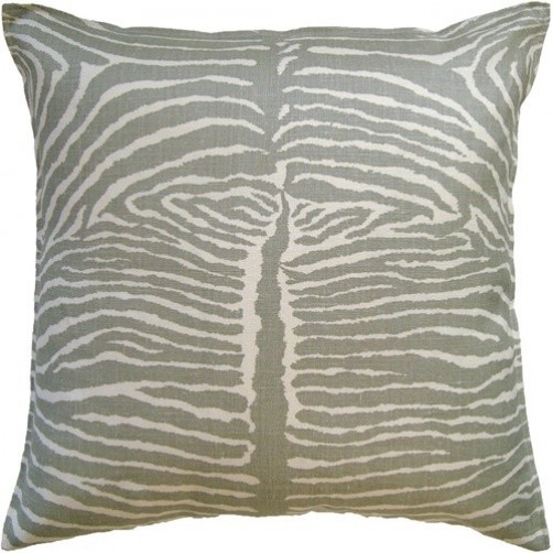le zebre pewter pillow