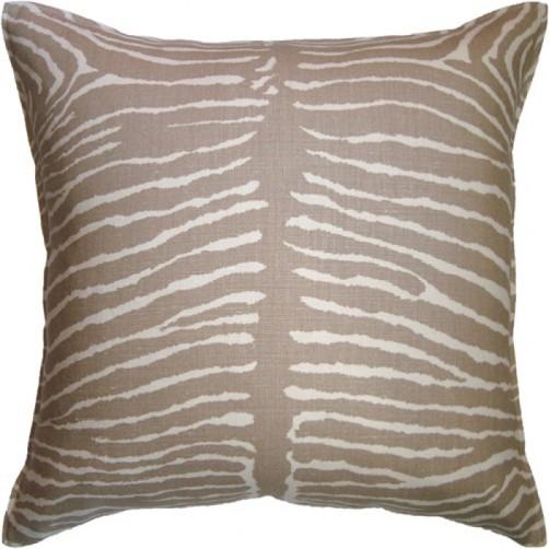 le zebre beige pillow