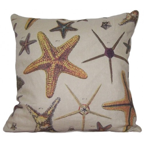 linen starfish pillow