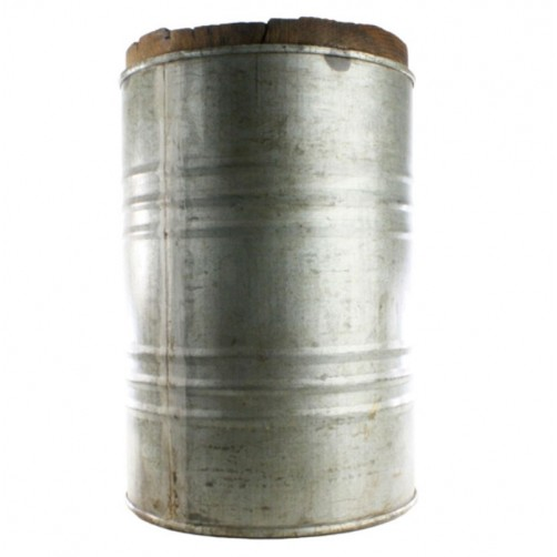 homart salvaged metal drum stool