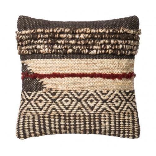 heavy woven dhurri style chevron diamond pillow