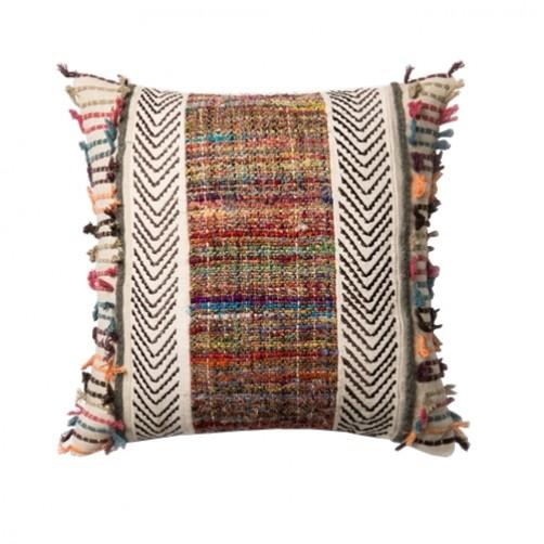 multi color patchwork pillow