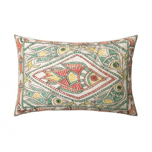 embroidery fish pillow