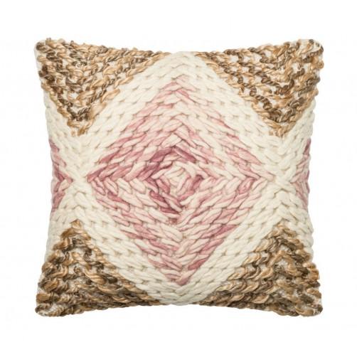 dhurri style lilac & beige diamond pillow