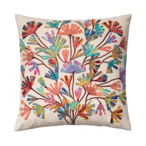 abstract flower tree pillow