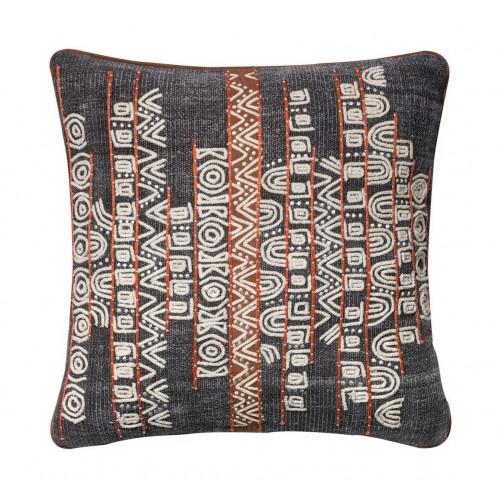 abstract aztec applique pillow