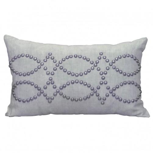 linen breeze rectangle studded pillow